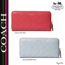 COACH★BLEECKER ACCORDION ZIP WALLET IN LOGO EMBOSSED