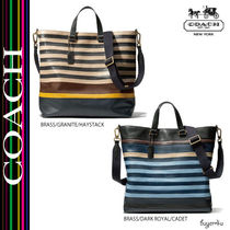 COACH★BLEECKER DAY TOTE IN COLORBLOCKED LEATHER