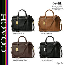 COACH★BLEECKER SLIM BRIEF IN LEATHER