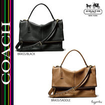 COACH★BLEECKER LENNOX BAG IN PEBBLED LEATHER