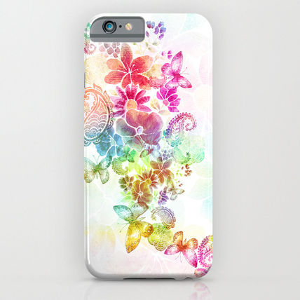 Society6 iPhone・スマホケース Society6 ケース paisley flutter by Norma Lindsay