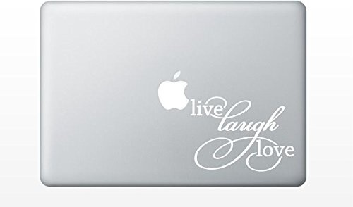 """MacBook アートステッカー ライブ""""ラフ""""ラブ """"Live Laugh Love"""""""