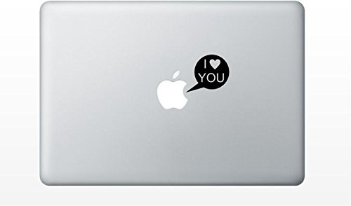 "MacBook ステッカー アイ ラブ ユー!"" I love you callout"""