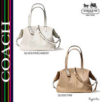 COACH★BLEECKER COOPER SATCHEL IN PERFORATED LEATHER