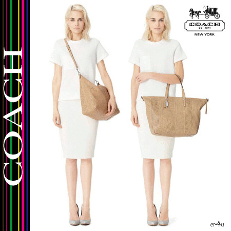 COACH★BLEECKER LARGE COOPER SATCHEL IN PERFORATED LEATHER