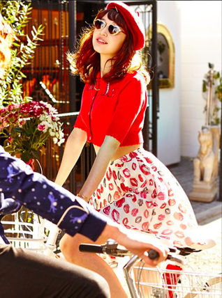 ★Sretsis★Sincerely Yours BIG KISS スカート Red Pink