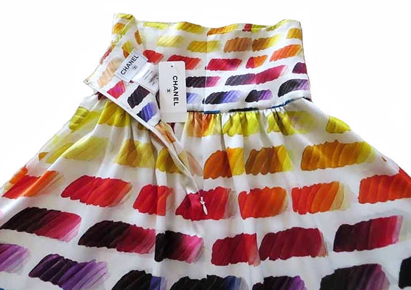 CHANEL★素敵!Iconic Paint Chart Print High Waist Skirt