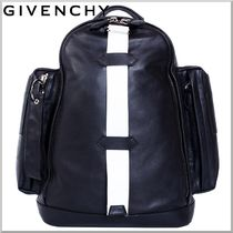 2015SS★GIVENCHY レザー カーゴ バックパック ブラック