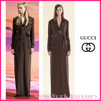 GUCCI★グッチ★素敵!RUNWAY Silk BELTED Long MAXI Shirt DRESS