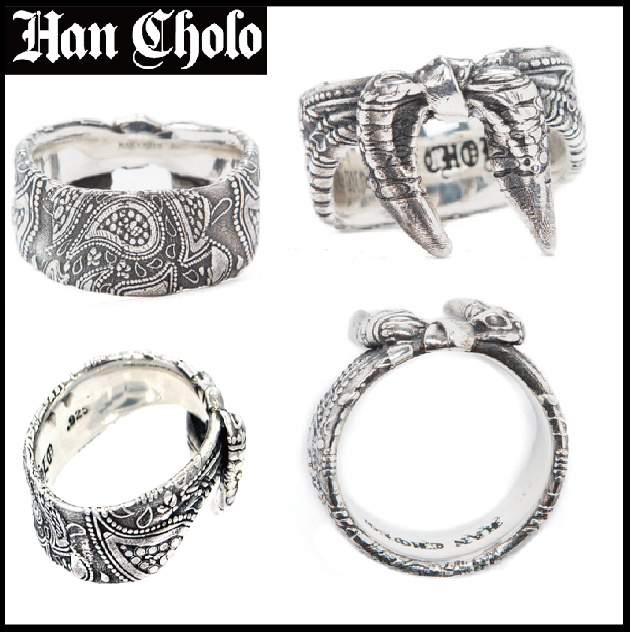 "限定品!! Han Cholo ""BANDANA RING"" (Silver 925 or 14k Gold)"