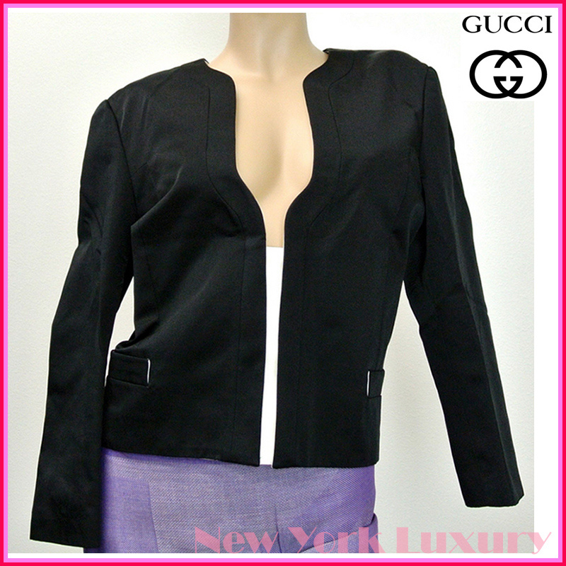 GUCCI★グッチ★素敵! Black Jacket  w/Snap Buttons