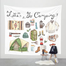 Society6◆タペストリー◆Let's Go Camping by Brooke Weeber