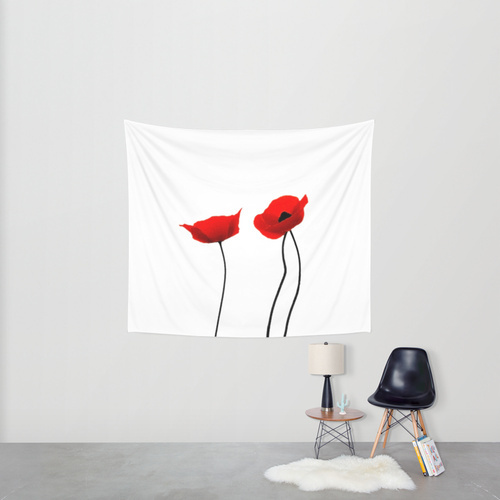 Society6◆タペストリー◆Simply poppies by Mariannehope