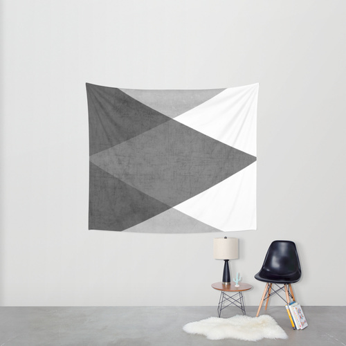 Society6◆タペストリー◆black and white triangles by her ar