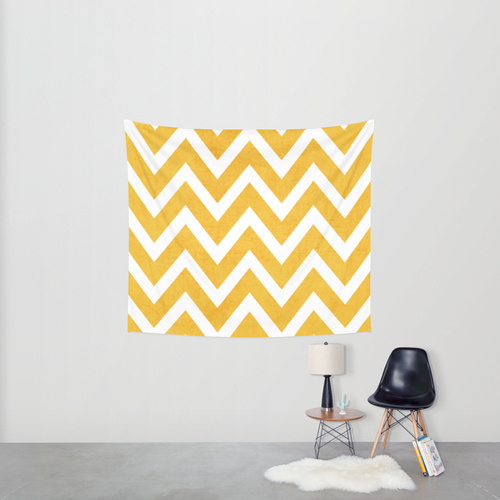 Society6◆タペストリー◆yellow chevron by her art