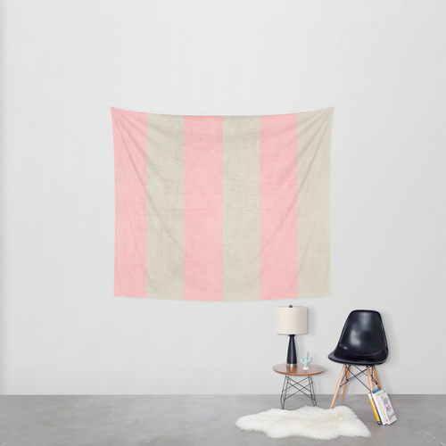 Society6◆タペストリー◆vintage pink stripes by her art
