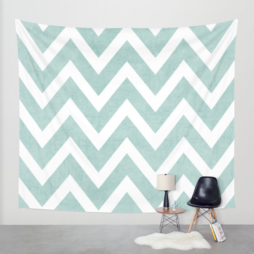 Society6◆タペストリー◆robins egg blue chevron by her art