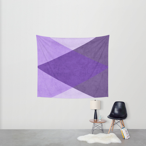 Society6◆タペストリー◆purple triangles by her art