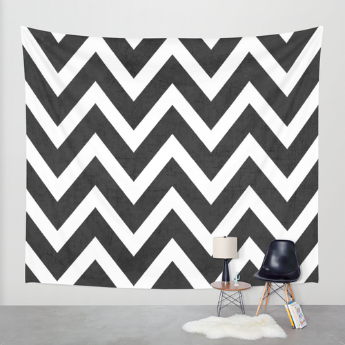 Society6◆タペストリー◆black chevron by her art