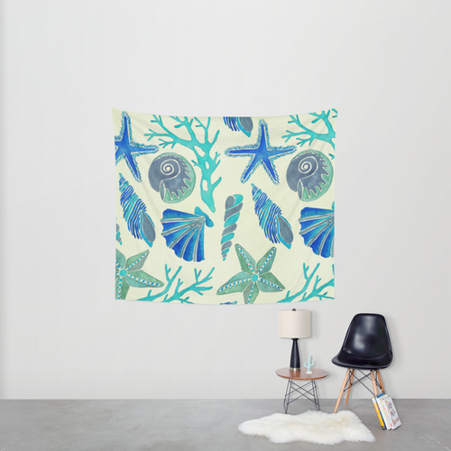 Society6◆タペストリー◆Blue Seashells by Cat Coquillette