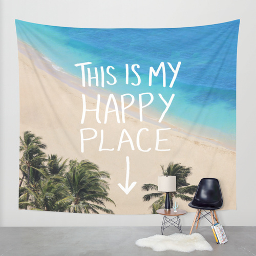 Society6◆タペストリー◆Happy Place by Leah Flores