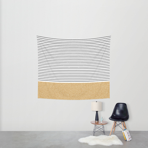 Society6◆タペストリー◆Minimal Gold Glitter Stripes by All
