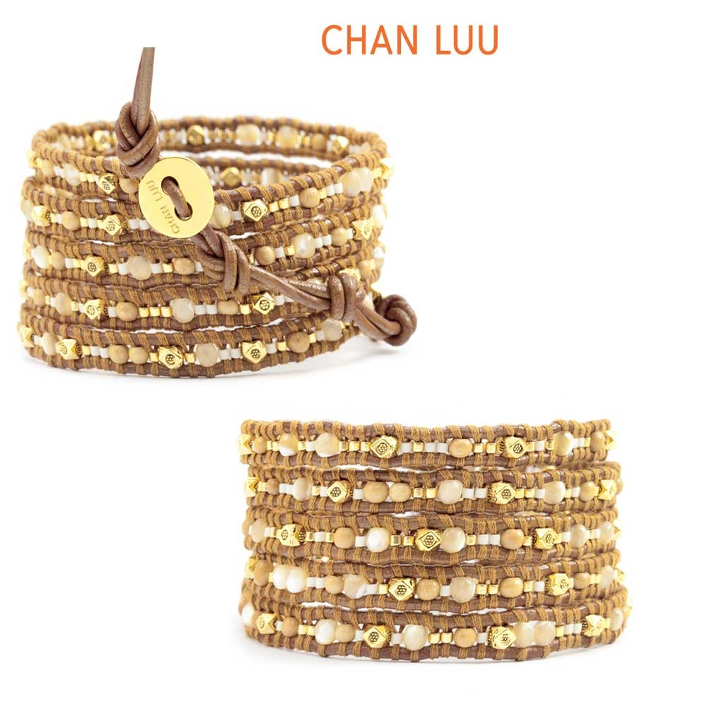 即発【正規品 】Chan Luu Antique Bone Mix WrapブレスBGZ4356
