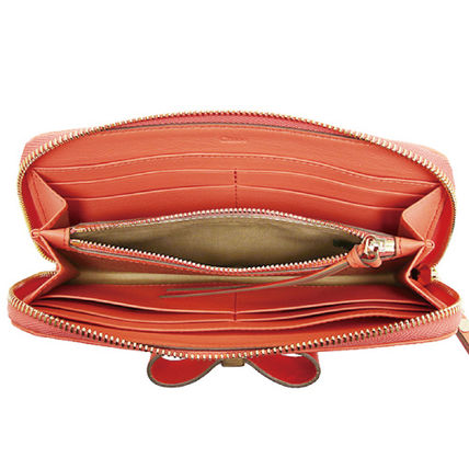 info for 6e6f2 2cc04 クロエ☆LEATHER BOW LONG ZIPPED WALLET レザーボウ長財布海外 ...