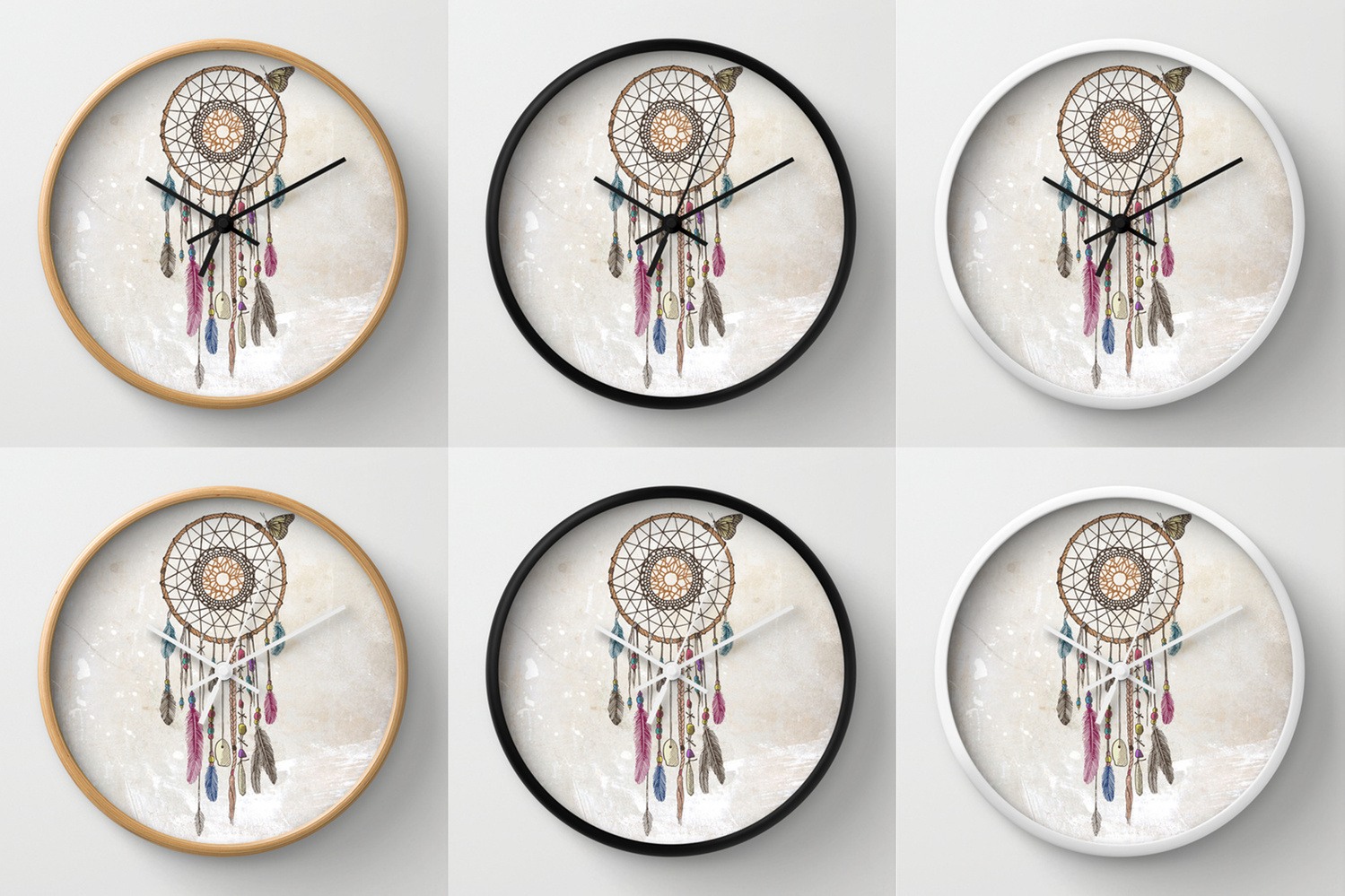 Society6★置き時計・掛け時計★Lakota Dream Catcher by Rache