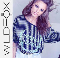 最短翌日着)Wildfox Young Heart Tee Metal Black ロングTシャツ