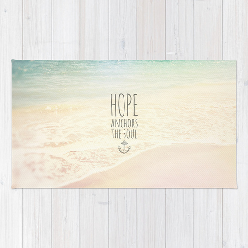 Society6◆洗えるラグマット◆Hebrews 6:19 by Pocket Fuel