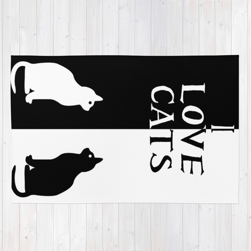 Society6◆洗えるラグマット◆OPPOSITES LOVE: CATS by Alice