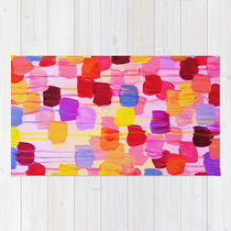 Society6◆洗えるラグマット◆DOTTY in Pink - October Specia