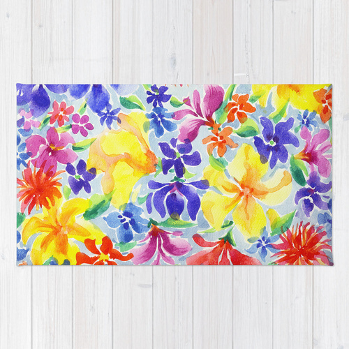 Society6◆洗えるラグマット◆Flowers by Nato Gomes