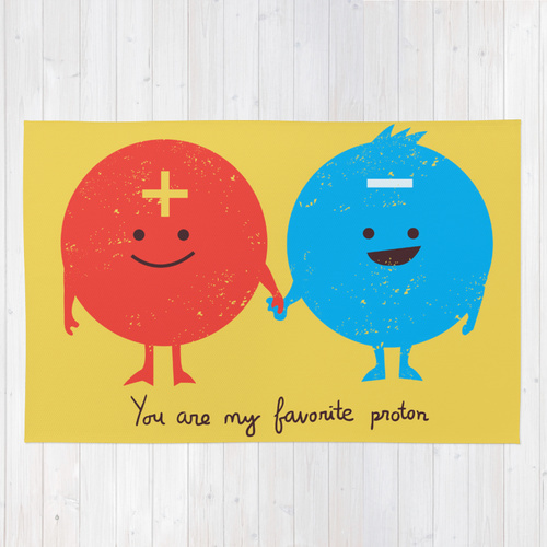 Society6◆洗えるラグマット◆You are my favorite proton by