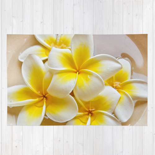 Society6◆洗えるラグマット◆Plumeria Blossoms by Around Th