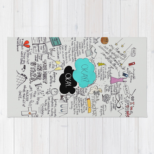 Society6◆洗えるラグマット◆The Fault in Our Stars- John G