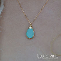 ★TERENA AQUA  ターコイズ ネックレス★GOLD/SILVER★Luxdivine