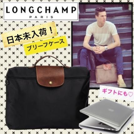 * Black Longchamp * documents * PC * briefcase