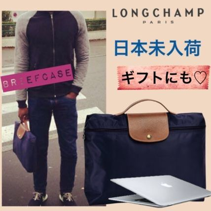 * Navy Longchamp * PC * briefcase