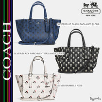 ★Coach★CROSBY MINI CARRYALL IN PRINTED CROSSGRAIN LEATHER