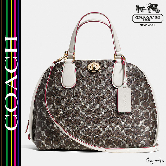 ★Coach★新作☆PRINCE STREET SATCHEL IN SIGNATURE CANVAS♪