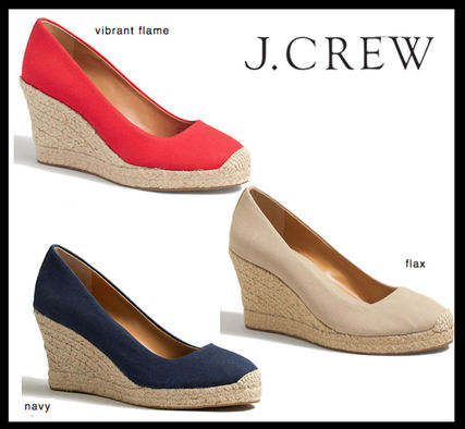 b31e4e69d31 セール*J Crew*3色 FACTORY CANVAS ESPADRILLE WEDGES