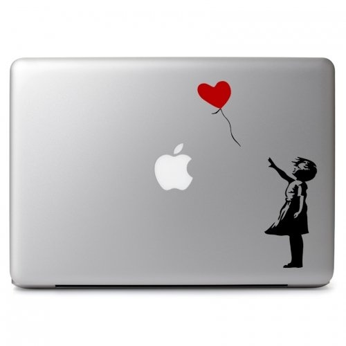 MacBook対応 アートステッカーBanksy the Girl with the Balloon