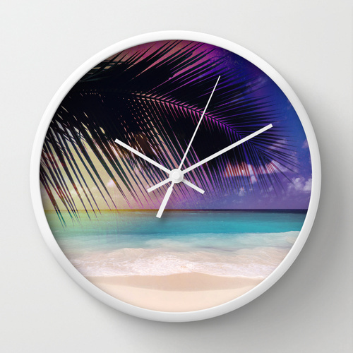 Society6★置き時計・掛け時計★The Beach...SUMMER! by Denis