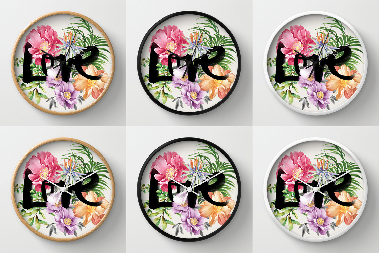 Society6★置き時計・掛け時計★Love by Karen Hofstetter