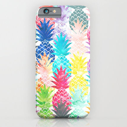 Society6 iPhone・スマホケース Society6 ケース Hawaiian Pineapple Pattern Tropical Watercol