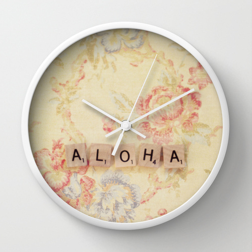 Society6★置き時計・掛け時計★Aloha by Christine Hall