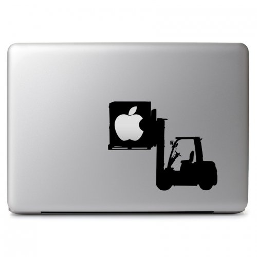 MacBook 対応 アートステッカー Forklift Cargo with Apple Logo