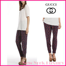 GUCCI★グッチ★Heartbeat Print Silk Jogging Pants